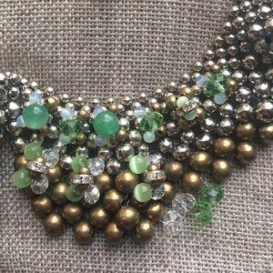 Pam Hiran Beaded Peter Pan Collar Necklace
